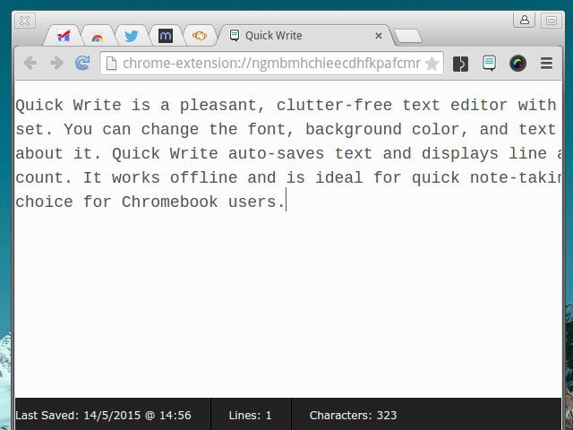 Quick Write Chrome Extension