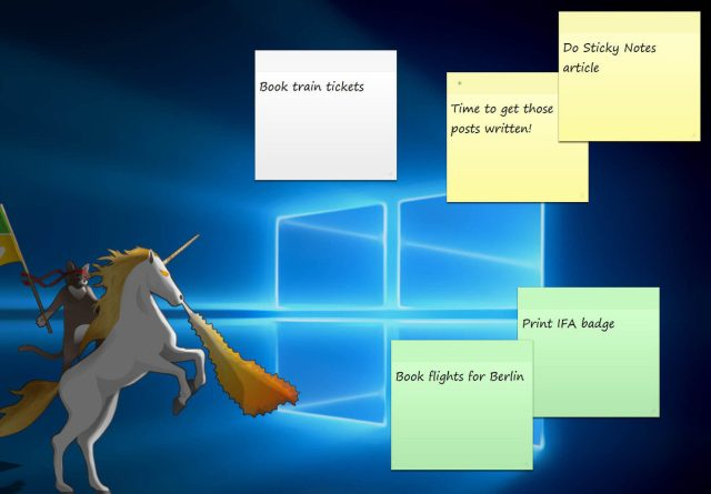 Sticky Notes in Windows 10