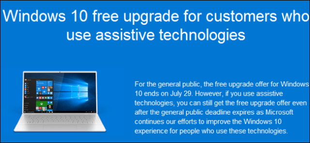 Windows 10 upgrade free