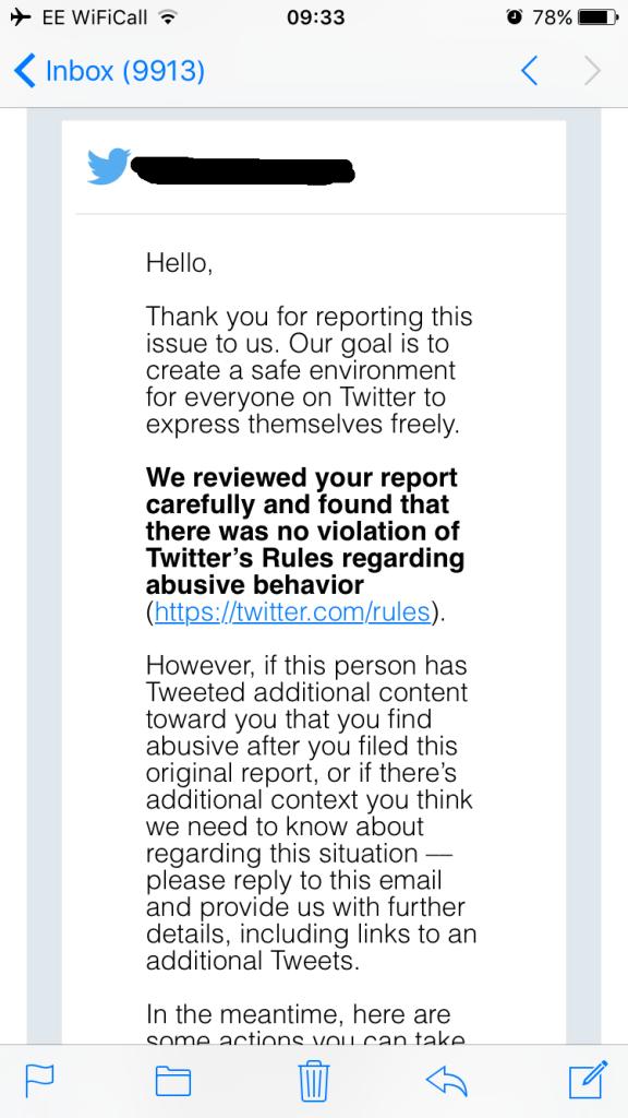Twitter User Banned