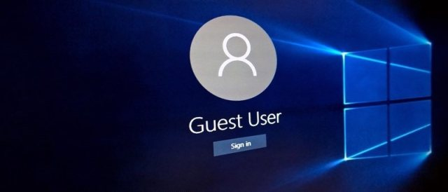 guest account on windows 10