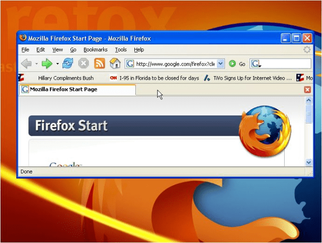 RSS Ticker in firefox