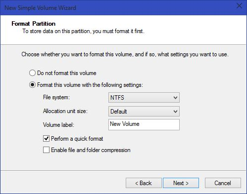 Partitions in Windows 10