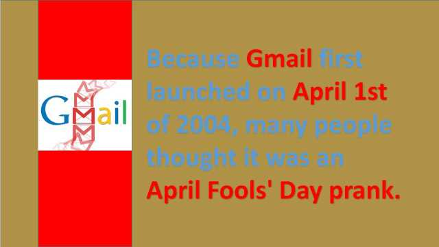 facts about google April Fool Gmail