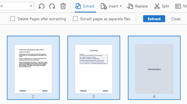 Extract Pages from PDF File