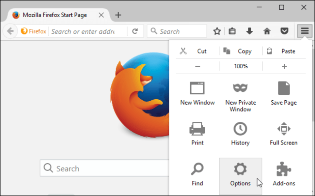 Mozilla Firefox proxy server