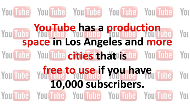 Free YouTube Production Space