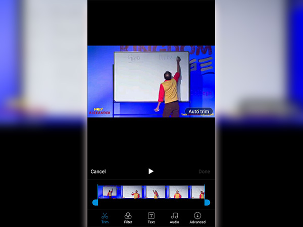 How to trim or shorten your videos on Android Device 3