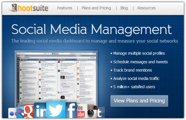 Social media automation software and apps
