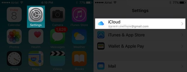Tap-on-Settings-then-iCloud-on-iPhone
