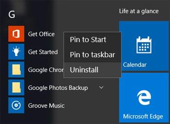 right click option