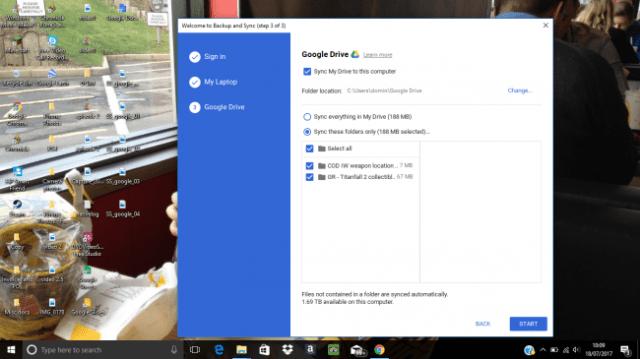sync on google drive