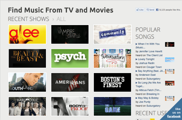 Websites For TV Shows and Movie Soundtracks