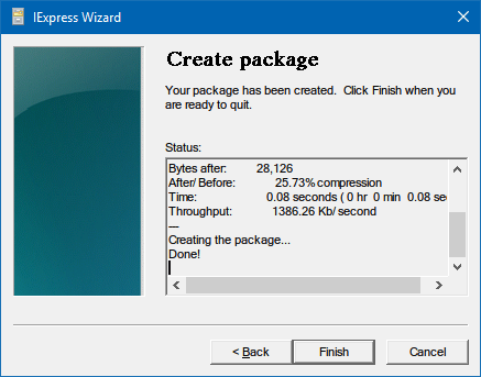 create-installer-iexpress