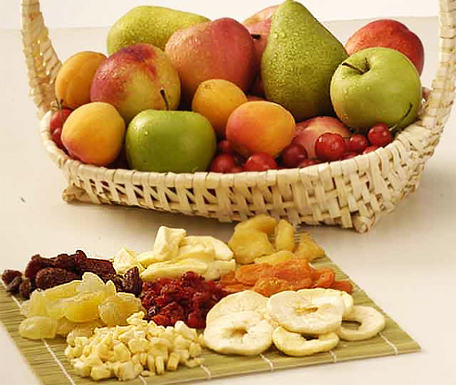 fresh fruits are better than dried fruits
