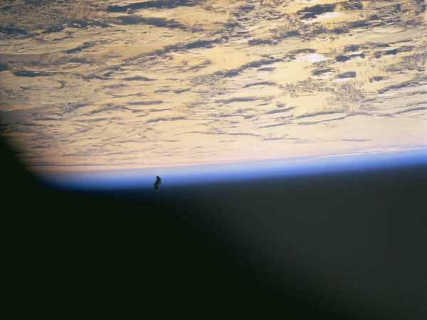 Satellite around the earth