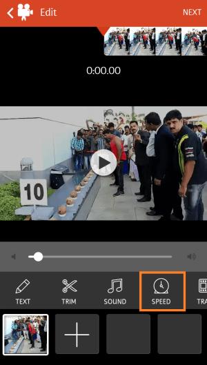 Speed Control in Videoshop