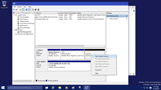 Partitions in Windows 10 7