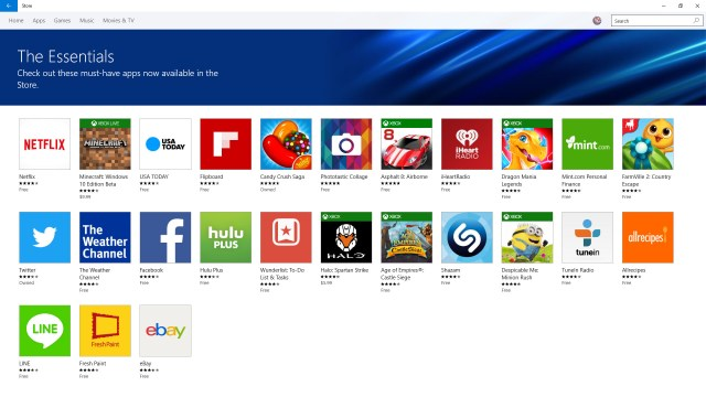 Essential Windows Store Apps