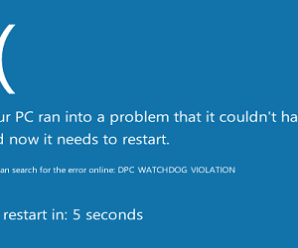 Top 5 ways to fix dpc watchdog violation Windows 10, 8.1, 8