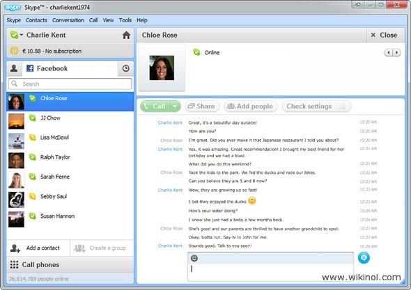 Skype Facebook Chat Client