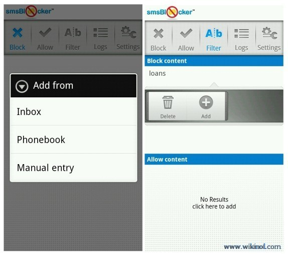 SMS Blocker App For Android Phone
