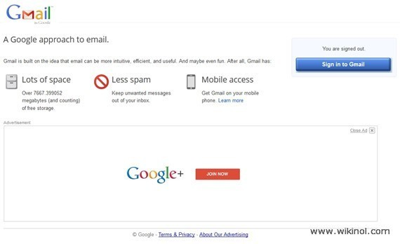 Gmail log out page new design