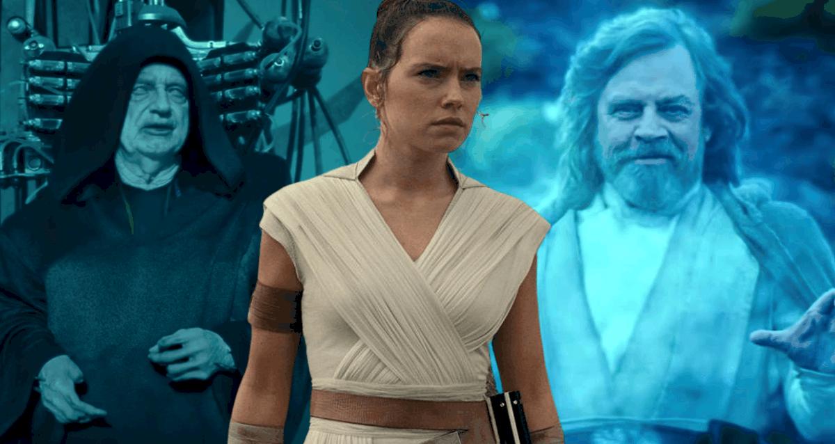 Rey Skywalker, Palpatine And Luke Skywalker