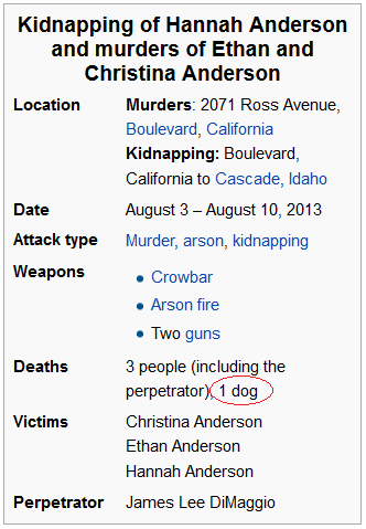 Hannah Anderson Kidnapping Infobox from Wikipedia article, August 30, 2013