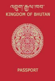 The_front_cover_of_Bhutanese_passport