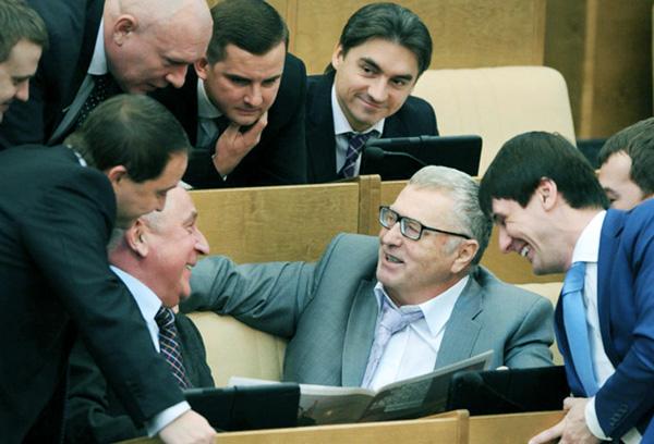 Zhirinovsky jako zástupce strany