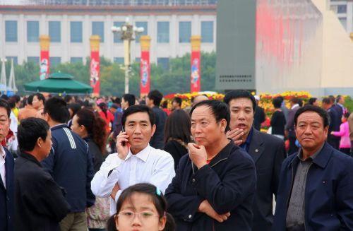 চীনে অনেক মানুষ