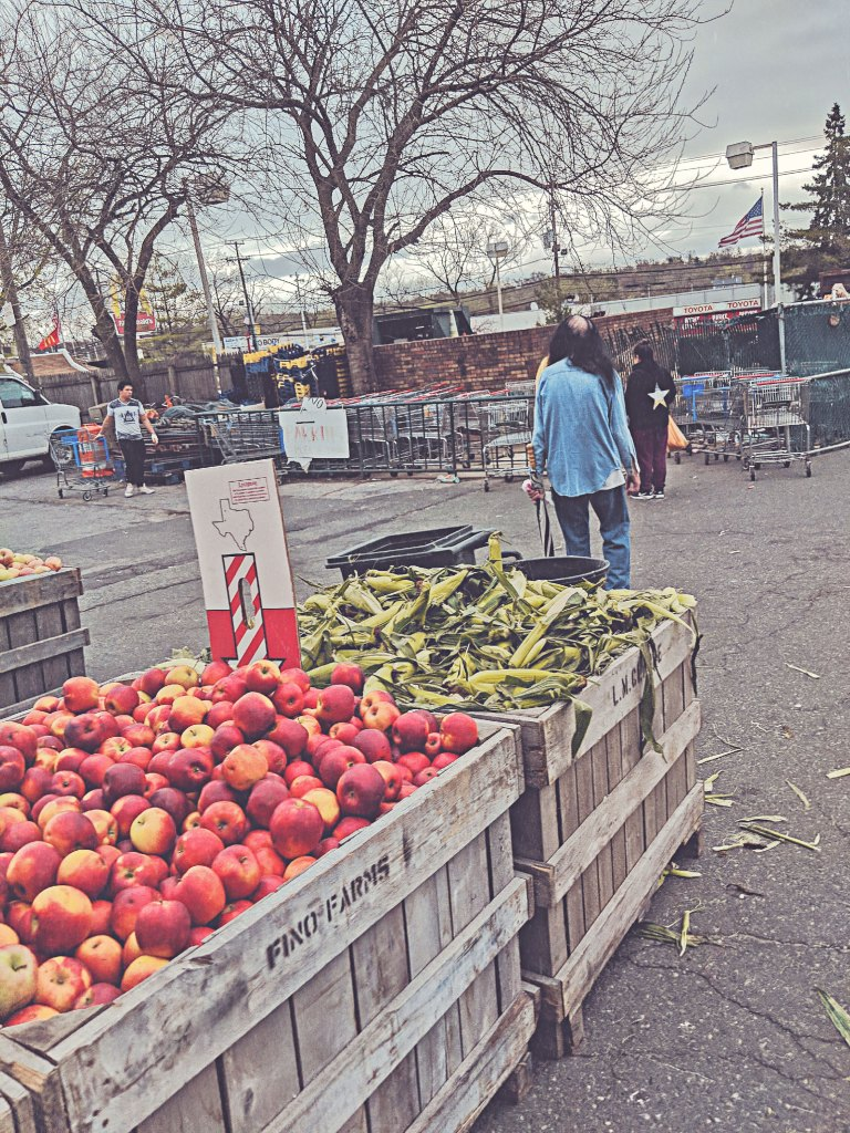 Giant Farmers Market, Hackensack, NJ, Large indoor farmers market. You can buy anything from fruits and vegetables to fresh cut meats and seafood. Come early to avoid the crowds.