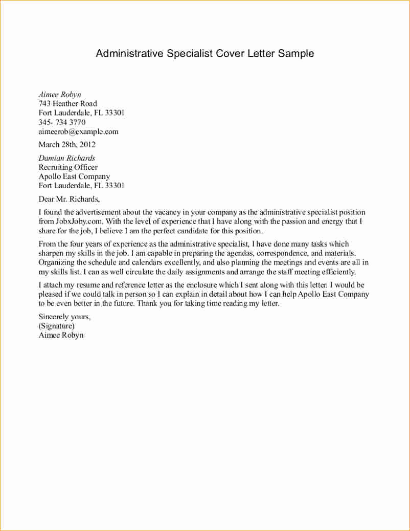 Administrative Assistant Cover Letters Cover Letter For Administrative Assistant Position Emelinespace