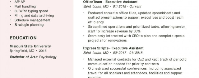 Administrative Assistant Resume Executive Assistant Resume Examples Created By Pros Myperfectresume Example Of A Perfect Resume Format administrative assistant resume|wikiresume.com