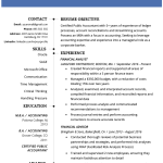 Best Resume Format Accountant Resume Example Template best resume format wikiresume.com