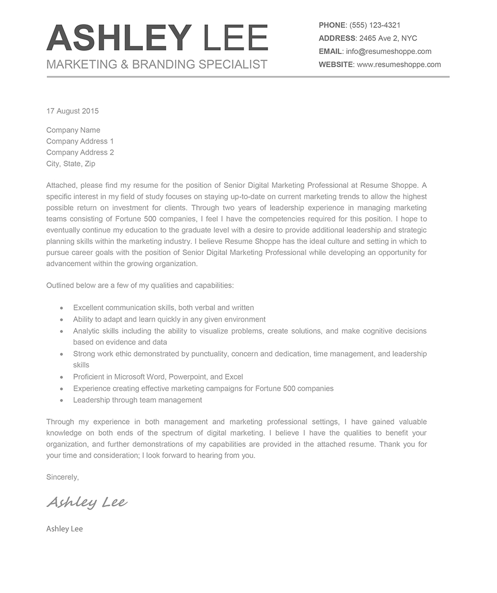 Cover Letters Template  Mac Pages Cover Letter Template Examples Letter Template Collection