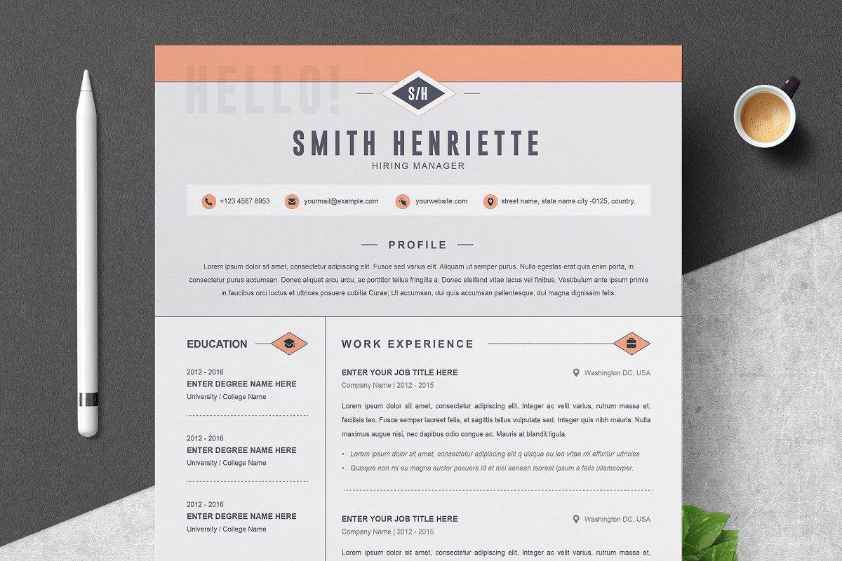 Creative Resume Template Free 01 Clean Professional Creative And Modern Resume Cv Curriculum Vitae Design Template Ms Word Apple Pages Psd Free Download creative resume template free|wikiresume.com