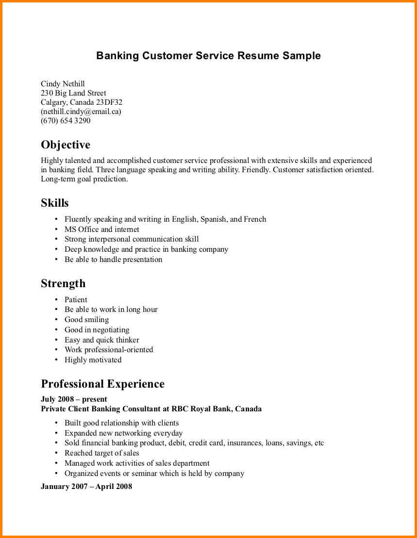 Customer Service Resume Examples 6 Resume Examples For Customer Service Happy Tots