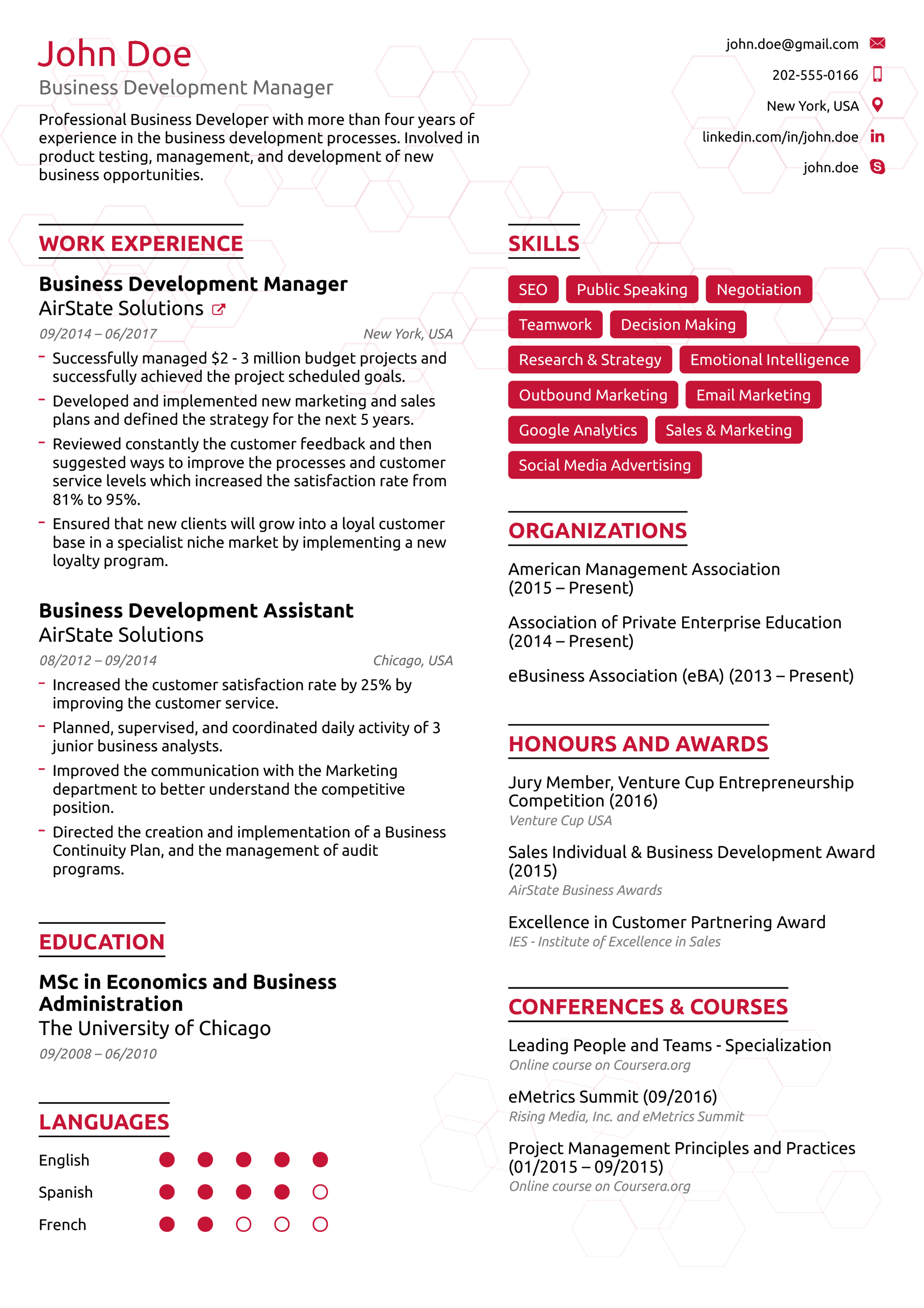 Example Of A Resume Best Resume Example example of a resume wikiresume.com