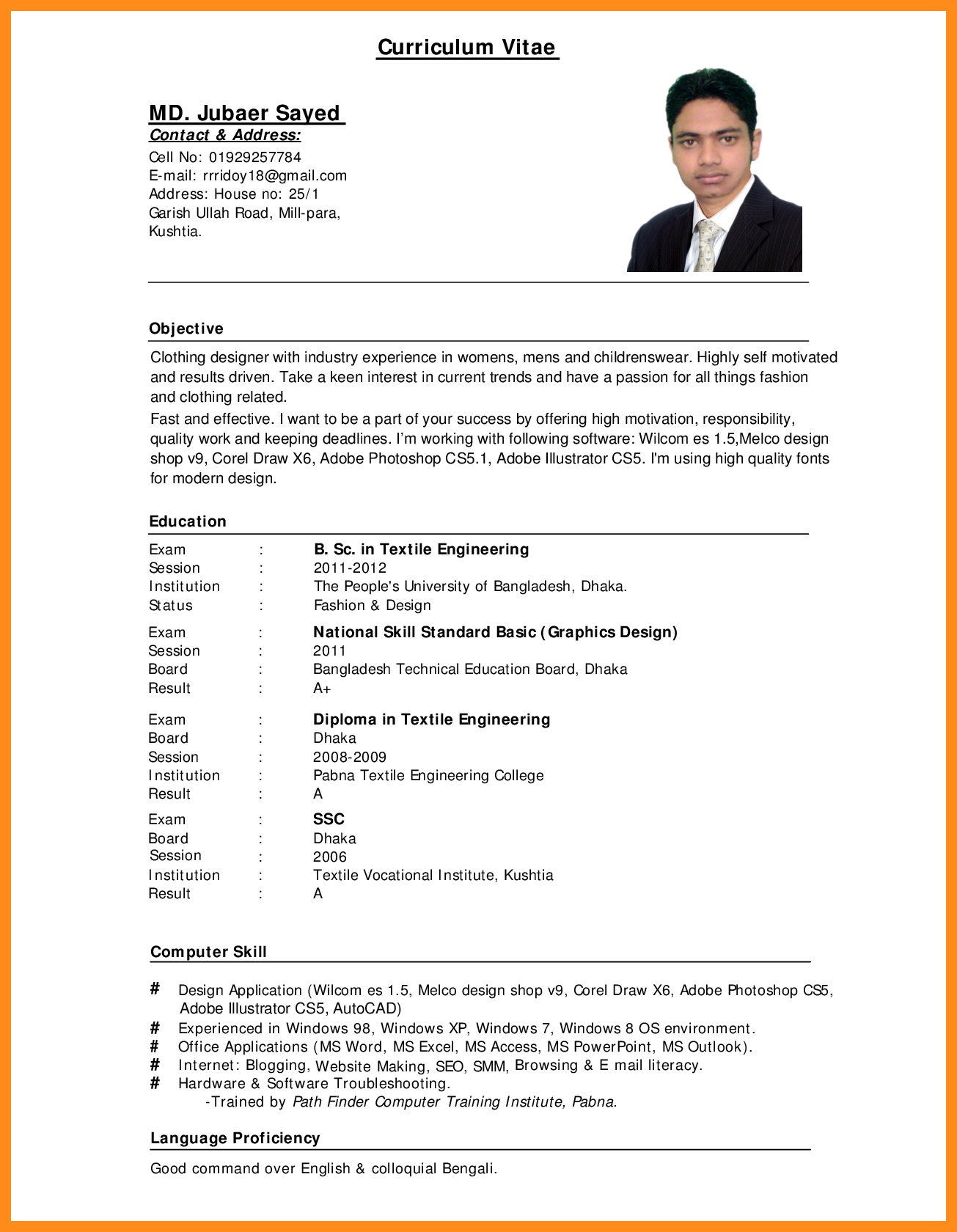 Example Of Resume 11 12 Computer Literate Resume Examples Lascazuelasphilly