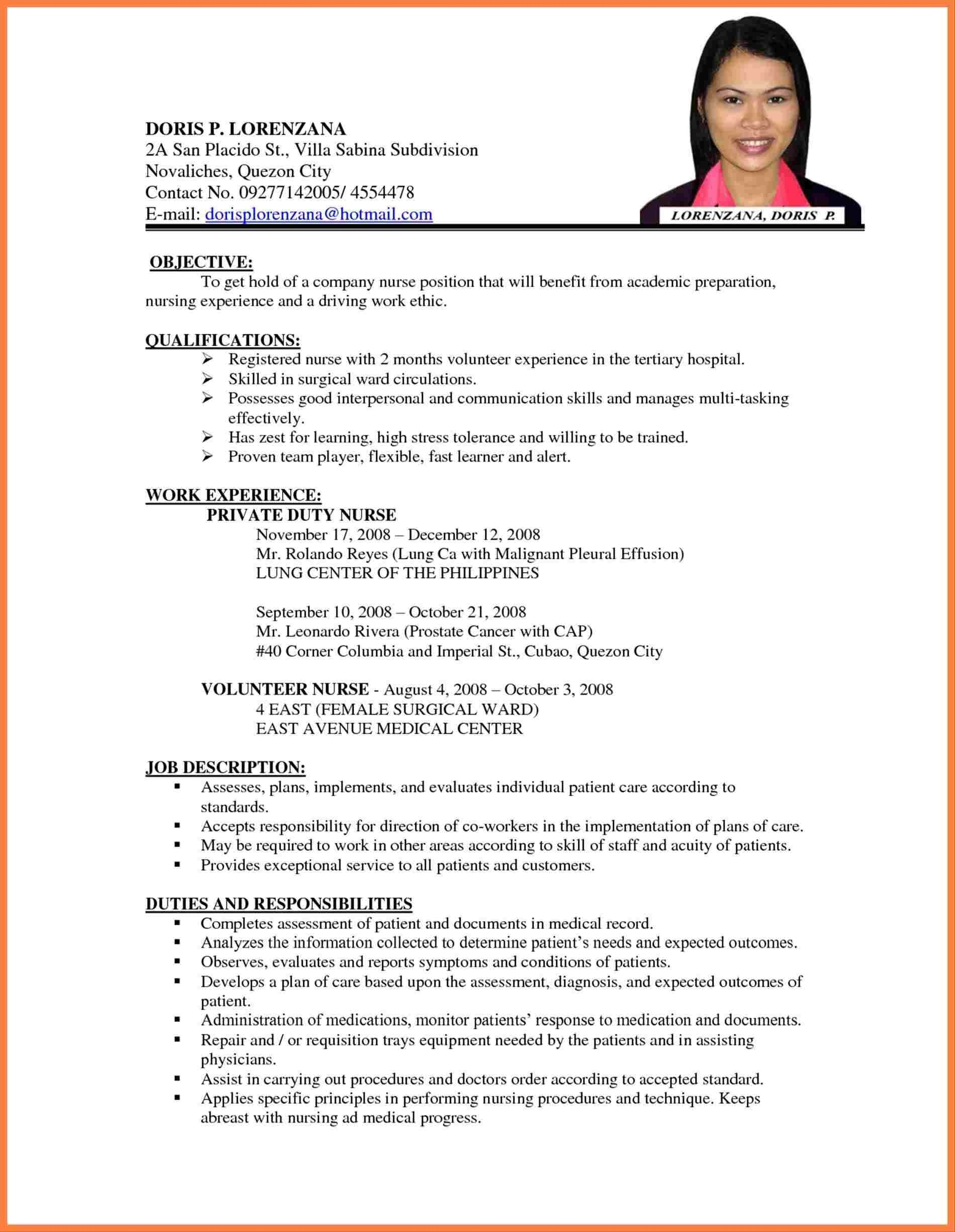 Example Of Resume Sample Resumes For Teacher With No Experience Easy Resume Samples