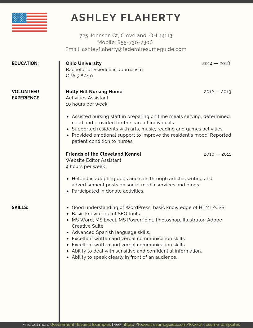 Federal Resume Template Entry Level Federal Resume 2 federal resume template|wikiresume.com