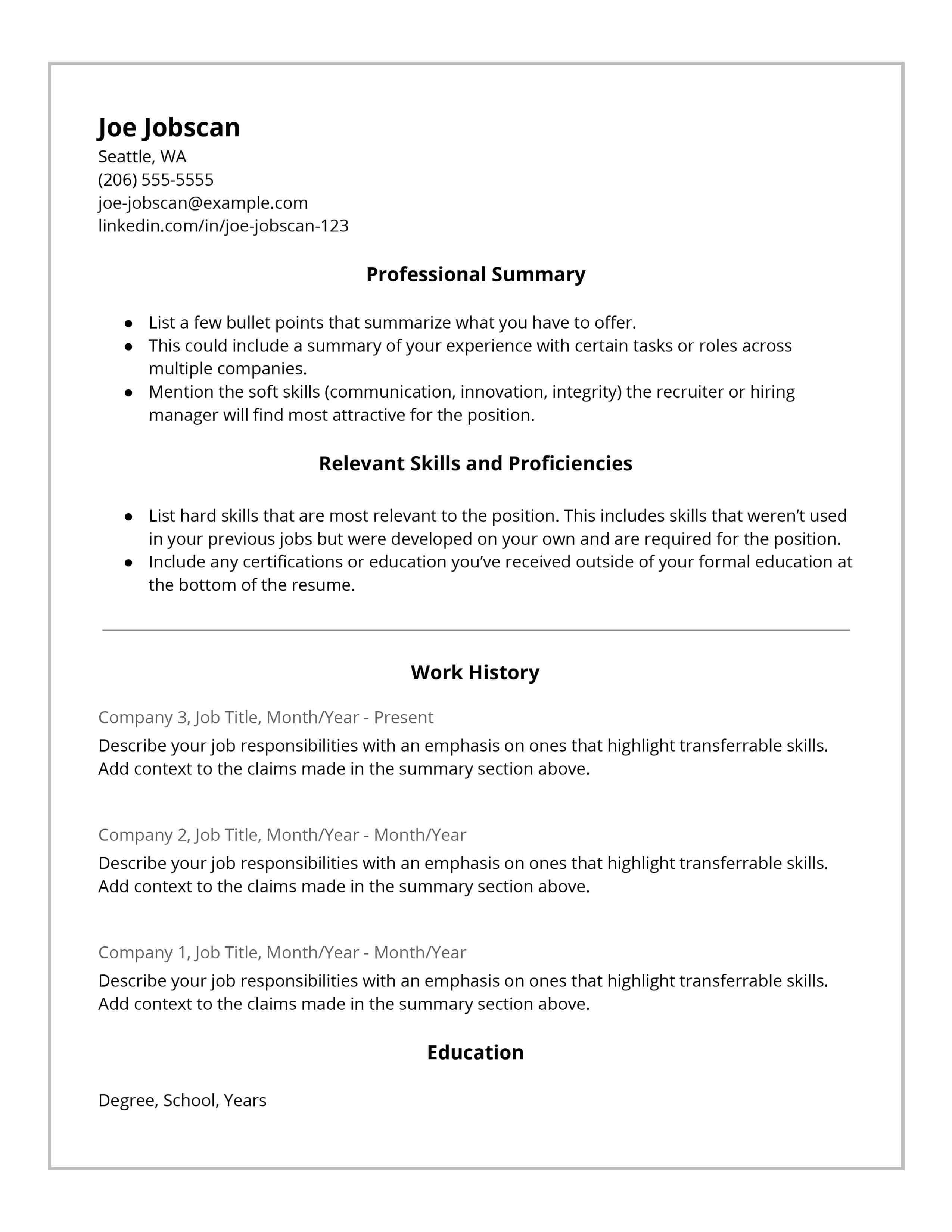 Functional Resume Template Hybrid Resume Template functional resume template|wikiresume.com