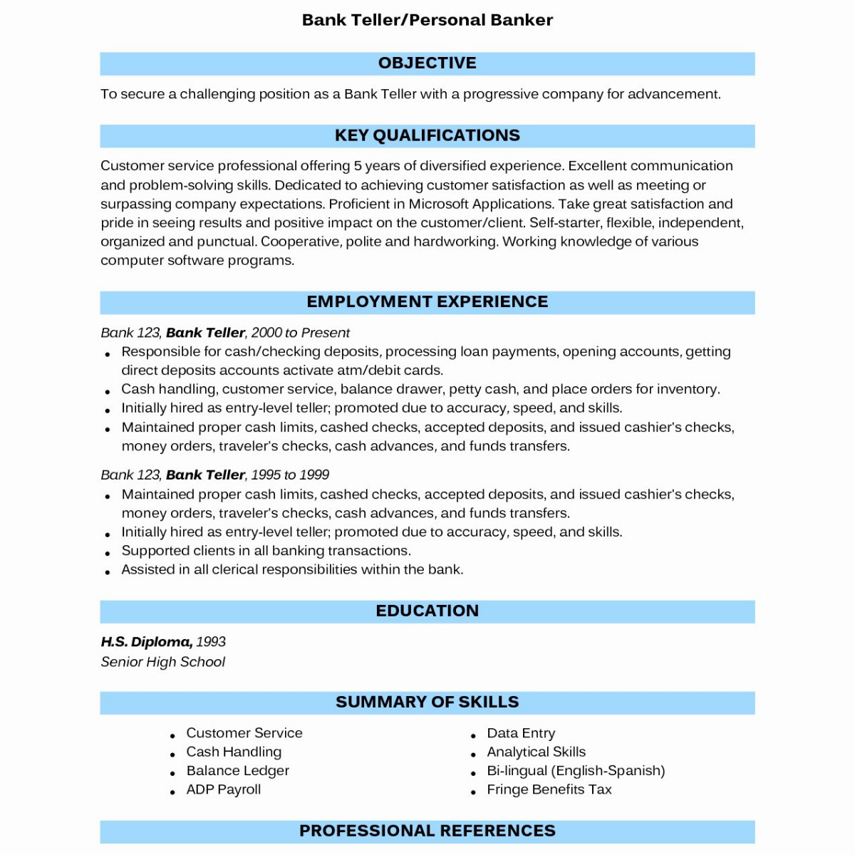 How To Spell Resume Sample Banking Resumes Sample 14 Resume How To Spell Ideas Of Sample Banking Resumes how to spell resume|wikiresume.com