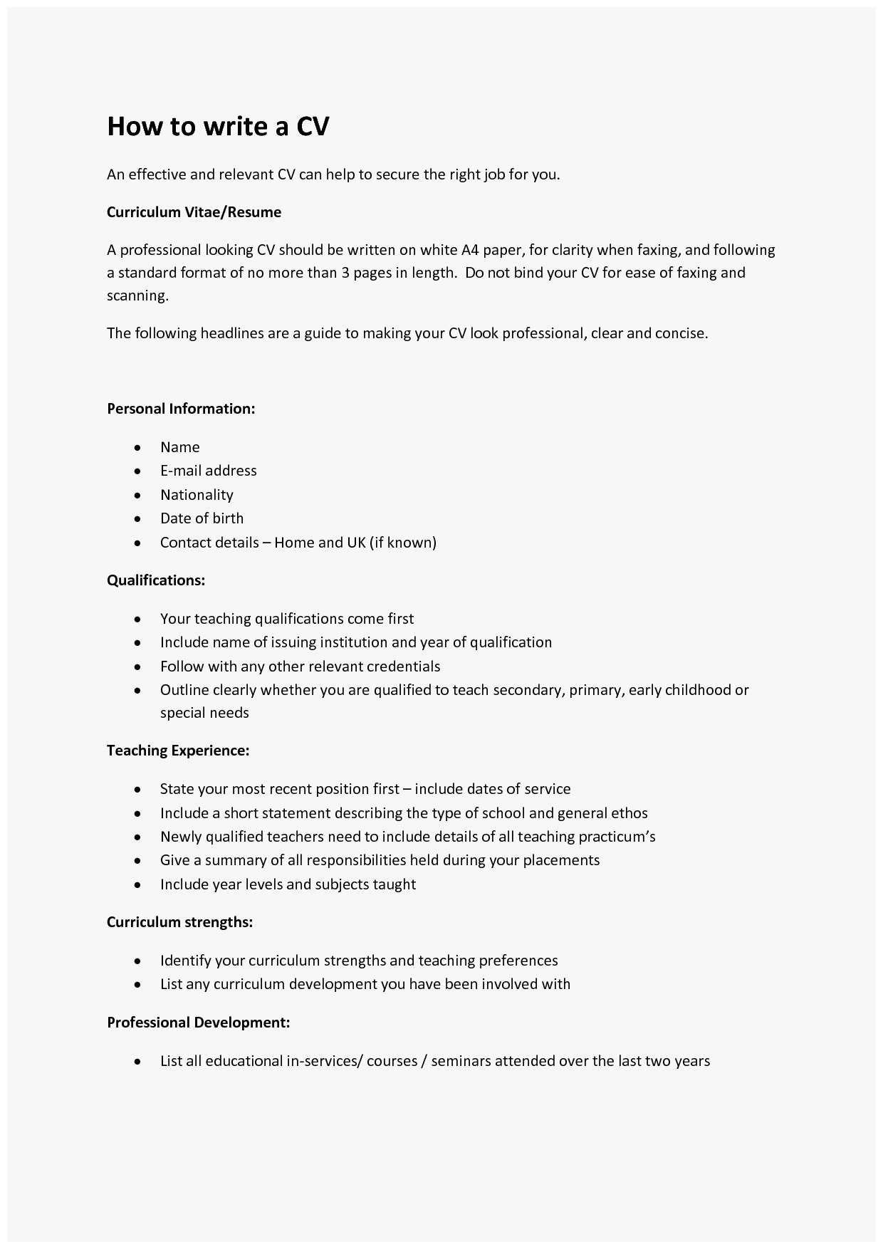 How To Type A Resume How To Type Up A Resume Amazing How To Write A Cv Of How To Type Up A Resume how to type a resume|wikiresume.com