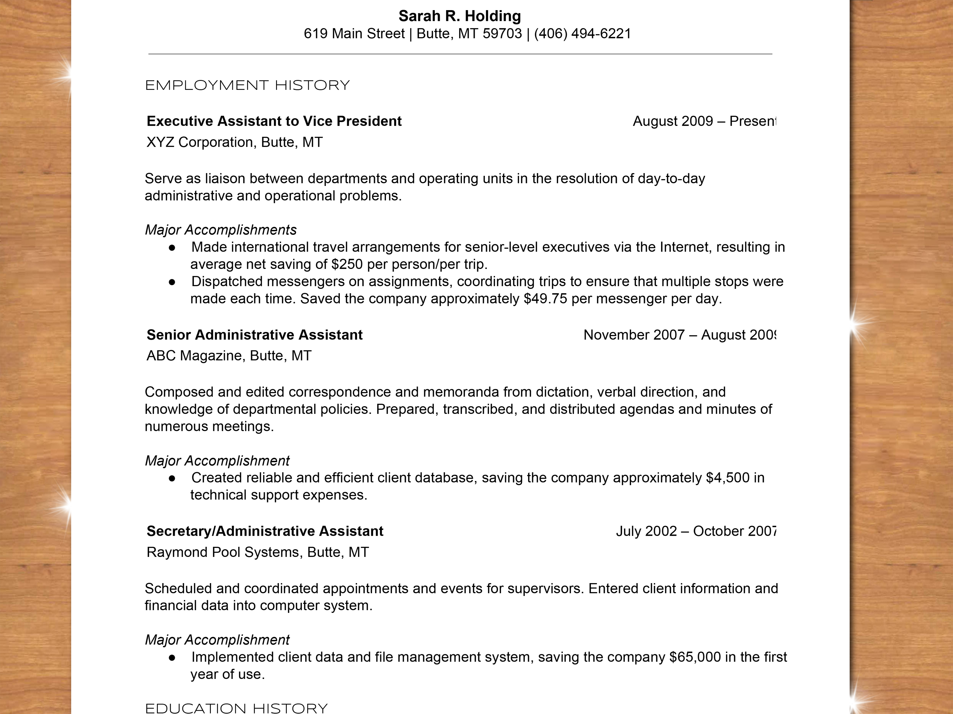 How To Type A Resume Write A Chronological Resume Step 14 how to type a resume|wikiresume.com