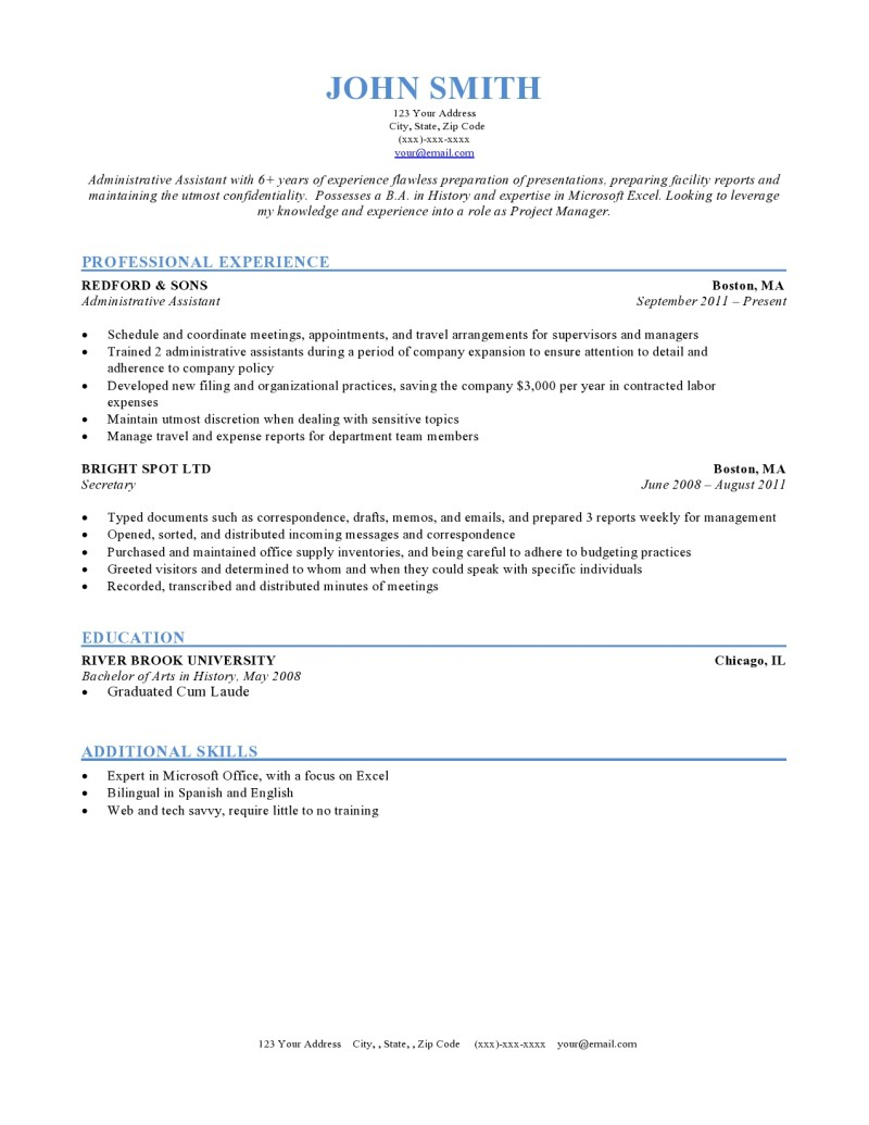 How To Write A Resume For A Job Chronological Sample how to write a resume for a job wikiresume.com