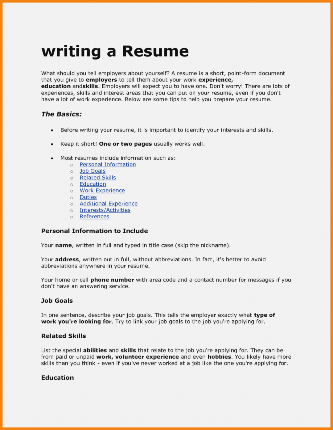 How To Write A Resume For A Job How To Write Resume For Job Fair How To Write Resume For Job Fair how to write a resume for a job wikiresume.com