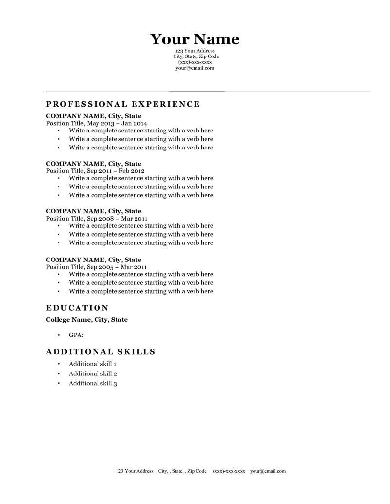 How To Write A Resume For A Job Resume Template Classic Original Bw how to write a resume for a job wikiresume.com
